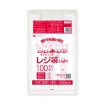 レジ袋ライト薄手タイプ西日本45号(東日本45号)0.016mm厚 乳白 100枚バラ 1冊280円 RSK-45bara