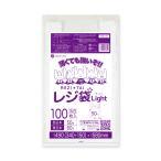 レジ袋 ライト 薄手タイプ 西日本 50号 (東日本60号) RSK-50bara 0.018mm厚 乳白 100枚 1冊345円