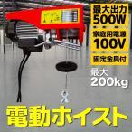 電動 ウインチ 電動 ホイスト 500W 最大 200Kg 電源 100V(50/60Hz) A20A