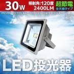 LED投光器 30W 300W相当 防水 防雨 LEDライト 作業灯 防犯 ワークライト 3m コードPSE 昼光色 電球色 集魚 駐車場灯 照明 A42C