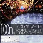 イルミネーションライトLEDチューブロープライトクリスマスツリーハロウィンお祭り電飾100m3000灯白ホワイトコントローラー付IRMRW100IRMRC010