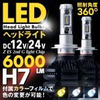 ショッピングLED LED ヘッドライト H7 両面発光 2200LM ヒートシンク 冷却ファン ホワイト イエロー カラー CREEチップ LEDKITH7
