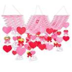 バレンタイン2連プリーツハンガー|バレンタインの吊り装飾