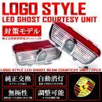 対策品 0.1A 1.2W仕様 LED ポルシェ PORSCHE クレスト ロゴ エンブレム 照射 カーテシランプユニット ルームランプカーテシ用 タイプ2