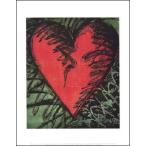 【アートポスター】Rancho Woodcut Heart(281×358mm)