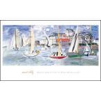【アートポスター】 トゥルーヴィルの港の船 (610x1016mm) デュフィ
