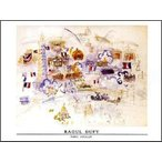 【アートポスター】パリ、7月14日(60cm×80cm) デュフィ