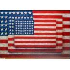 【ジャスパー・ジョーンズ ポスター】Three Flags, 1958(654×940mm)