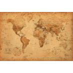 ����ƥ����� �������� �����Ͽ� �ݥ�������WORLD MAP antique style(110105)