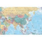 【送料¥290〜】 アジア・中東 地図 ポスター Asia & Middle East Map 【世界地図】(140620)