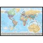 世界地図 ポスター フレームセット  WORLD MAP 2015 GN0214