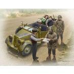 1/35 米独 路上検問-米兵2体 民間家族3体 車なし限定品 プラモデル マスターボックス