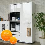 ショッピング食器 食器棚 120 ホワイト 白 北欧 引き戸 完成品 シュール120キッチンボード