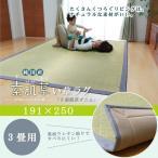い草ラグ カーペット ラグマット  3畳 国産  F素肌草デニム 約191×250cm