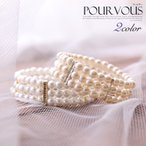 パール ブレスレット ラインストーン 結婚式 レディースファッション パーティースタイル コーディネート ホワイト お呼ばれ アクセサリー パーティー  a054