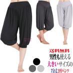 送料無料 7分丈 ヨガ パンツ メンズ 大きいサイズ XL XXL ホット ヨガ ウェア ダンス