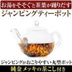 HARIO ハリオ製 高級ティーポット お湯をそそぐと茶葉が踊りだす ジャンピングティーポット 純金メッキ茶こし付き 耐熱ガラス 800ml 1〜4人用