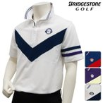 半袖シャツ系 ZGM53A 春夏モデル ブリヂストン-BRIDGESTONE- MENS (メンズ) 半袖ポロシャツ 15 トップス ウエア M,L,LLサイズ ゴルフ用品