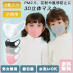 子供用 マスク 2枚入り 洗える ウレタンマスク 4色 黒 白 ホワイト グレー ピンク 男女兼用 使い捨て にも 送料無料 花粉 防塵 ウィルス対策