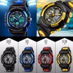 腕時計 デジタル 防水 スポーツ ウォッチ 誕生日 プレゼント 可愛い おしゃれ アナログ 2タイム設定 キッズ ジュニア 女の子 男の子 中学生 メンズ