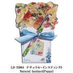 リゾムデザイン社製 ダイカットノートパッドL ナチュラル・インスティンクト Lissom Design diecut NotePad L Natural Instinct(Poppy)