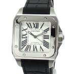 カルティエ CARTIER メンズ 腕時計 サントス100  W20073X8 LM SANTOS 100 自動巻き アリゲーター 2年保証 アウトレット訳あり