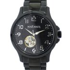 ショッピング自動巻き ニューヨーカー NEWYORKER 腕時計 justis 自動巻き NY005.00 メンズ SS オールブラック