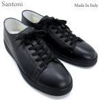 Santoni サントーニ スニーカー レザーシューズ SA12972 CLUBライン ブラック/黒 メンズ 在庫セール