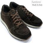 Santoni サントーニ スニーカー レザーシューズ SA23323 CLASSIC ダークブラウン スエード メンズ 在庫セール