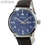 ニューヨーカー NEWYORKER 腕時計 自動巻き DD-BEATS  NY002.15 メンズ  ブルー/ブラウン レザー 【アウトレット訳あり】