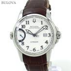 ブローバ BULOVA 腕時計 63B160 自動巻 キャリブレーター 歩度調整機能 40mm レザー 新品 決算SSP