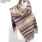 Johnstons ジョンストンズ カシミア ストール WA000056 RU5099 Muted Check Pink 大判 195cm×74cm