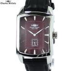 シャルルホーゲル 腕時計 メンズ CV-9077-8 RD トノー型 日本製クォーツ レザー