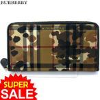 ショッピングBURBERRY BURBERRY バーバリー 長財布 ラウンドファスナー 3996534  HONEY BLACK カモフラージュ 新品 決算SSP