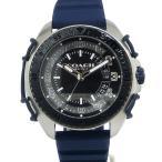 コーチ COACH  メンズ 腕時計 C001 14602447 ネイビー シリコンラバーベルト