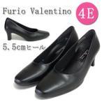 フリオバレンチノ Furio Valentino 6451 6cmヒール パンプス ブラックフォーマル リクルート 通勤 低反発クッション 4E フォーマル 黒 喪服 靴 冠婚葬祭