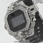 G-SHOCK ジーショック カスタム 腕時計 DW-5600 DW5600bb-1jf カスタムベゼル おしゃれ ブランド 人気 ユニセックス ファッション CROWNCROWN  DW5600-001