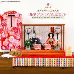 雛人形 ケース飾り 豪華プレミアム5点セット 花桜シリーズ 選べる2種類のケース雛 花桜or萌愛