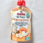 Holle(ホレ) 有機バナナ&りんご&マンゴ&アプリコット(パウチ) 100g