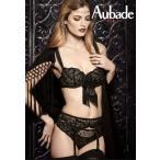 Aubade/オーバドゥ (セール) 2015AW Tickle Belle(ティックル ベレ) 1/2カップノンパテッドブラジャー Au134NO-abcd BD14 黒