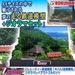 Zショーティー鉄道模型「キハ52首都圏色」ジオラマレイアウトフルセット (ROKUHAN Zゲージ 電車 列車 ディスプレイ  情景 (株)トイテック)