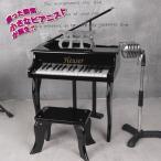 ホイザー・ミニグランドピアノ(Heuser/30鍵盤/椅子/譜面台付属/ブラック/クリスマス/プレゼント/楽器)