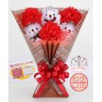 Yahoo!Present Bear ヤフーショップくま束 <スイートカーネーション> (くま3匹) 国内製作 送料無料 母の日 プレセント ギフト サプライズ