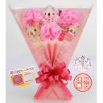 Yahoo!Present Bear ヤフーショップ母の日 花束 カーネーション くま束 プレセント ギフト サプライズ 送料無料 国内製作  <アリスカーネーション> (くま3匹)(くまの色3色)