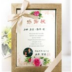結婚式両親プレゼント 記念品 両親へ心を込めた感謝状 花飾りBOX A4タイプ が作れる 結婚式両親へのプレゼント