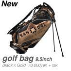 Yahoo!スポーツ総合ショッププレステージバンデル BANDEL バンデルゴルフ キャディーバック 9.5インチ BANDELGOLF Golf Bag004 ブラック/ゴールド 送料無料