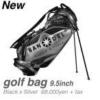 Yahoo!スポーツ総合ショッププレステージバンデル BANDEL バンデルゴルフ キャディーバック 9.5インチ BANDELGOLF Golf Bag004 ブラック/シルバー 送料無料