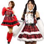 Yahoo!Pretty Girl コスプレ通販animania/チェック柄サンタワンピース アイドル クリスマス コスプレ 仮装 衣装