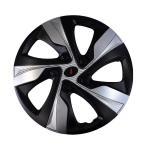 14インチホイールカバー ブラック/シルバー 4枚セット AWX4-1SL-14