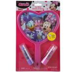 ミニーマウス ミラー&リップクリーム 12692 ミニー Disney  メイク ハンドミラー リップ 手鏡 プレゼント ギフト 輸入品 子供会 景品 メール便可